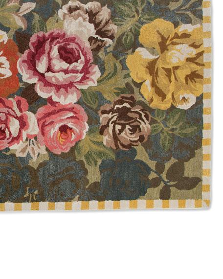 MacKenzie-Childs Bloomsbury Garden Rug, 2.3' x 3.75'