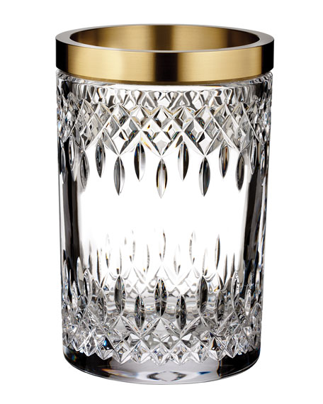 Lismore Reflections Gold Band Vase, 8""