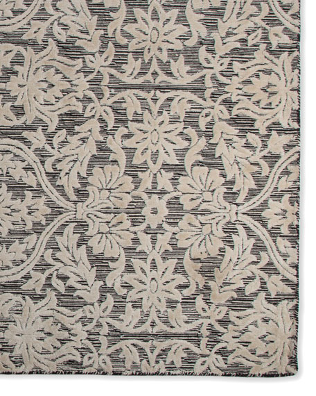 Ivory Scroll Rug, 2' x 6' x 8'