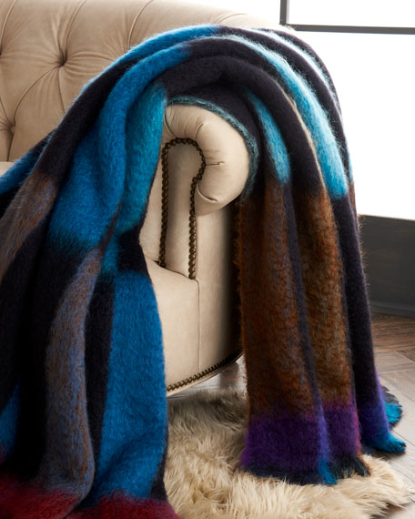 Domino Mohair-Blend Throw Blanket