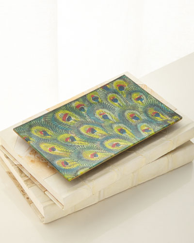 Peacock Feathers Tray