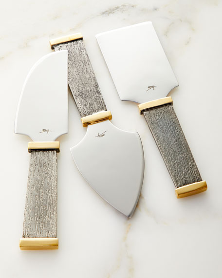 Michael Aram Anemone Cheese Knife Set