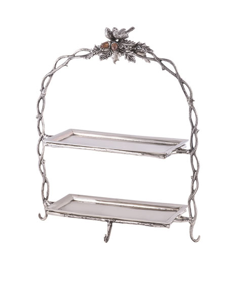 Birds & Branches 2-Tier Serving Stand