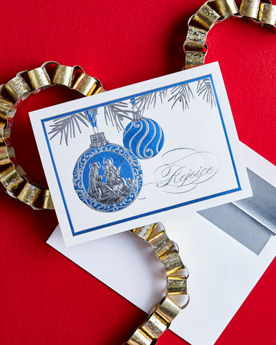 Rejoice Ornament Cards, Personalized