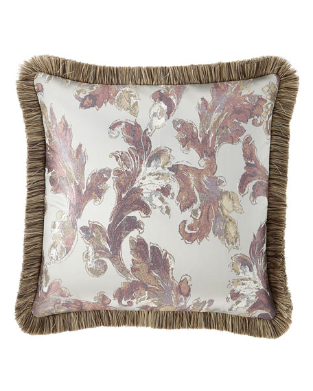 Serafina European Sham with Brush Fringe