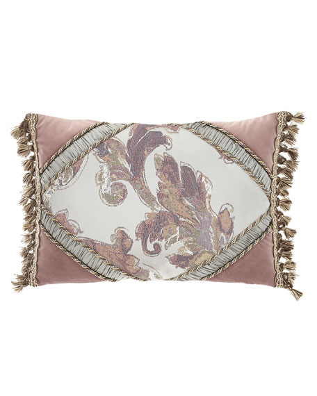 Serafina Pieced Oblong Pillow with Tassels