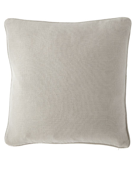 "Stone Washed Linen Decorative Pillow, 20""Sq."
