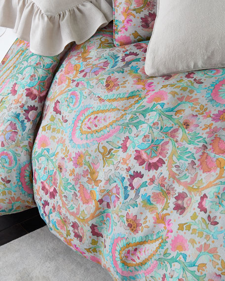 Ines Linen Full/Queen Duvet Cover