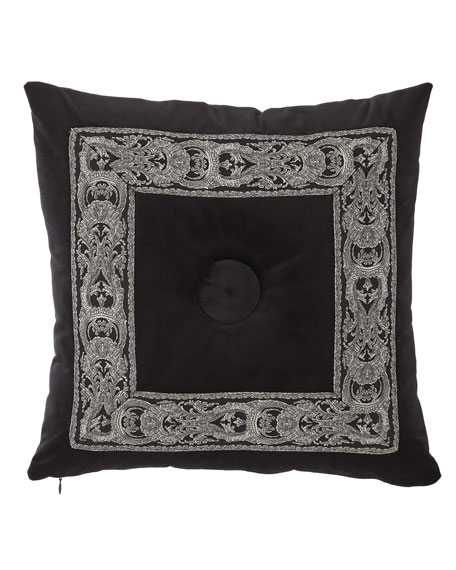 Bianca Velvet Boutique Button-Center Pillow