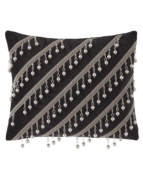 Bianca Pillow with Pearly Bead Trim