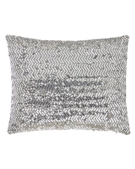 Bianca Silver Sequin Pillow