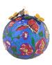 "Butterfly Artisan Glass Ball Christmas Ornament, 4""Dia."