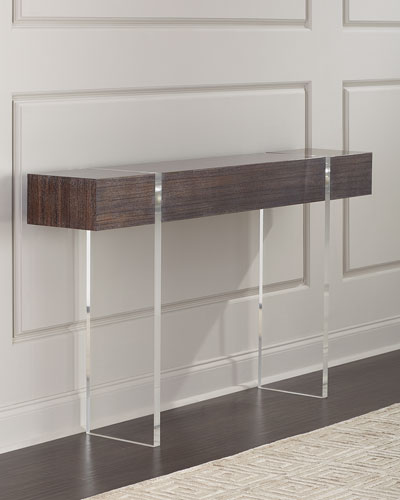 Parisienne Acrylic & Wood Console Table