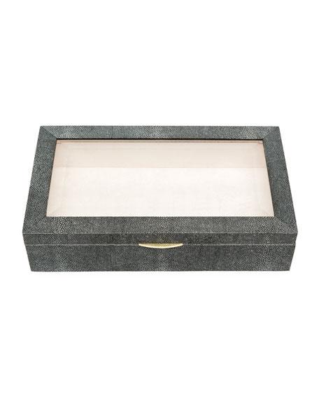 Henlow Rectangular Faux-Shagreen Display Box