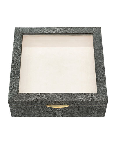 Henlow Square Faux-Shagreen Display Box