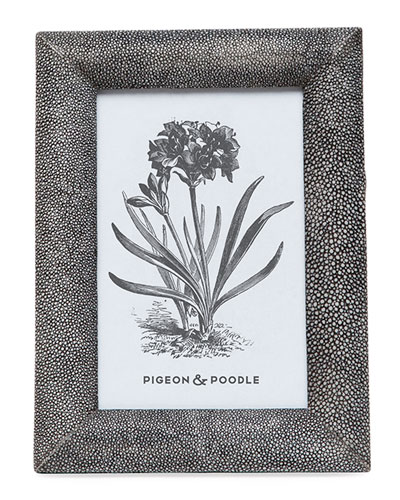 Oxford Faux-Shagreen Picture Frame  4 x 6
