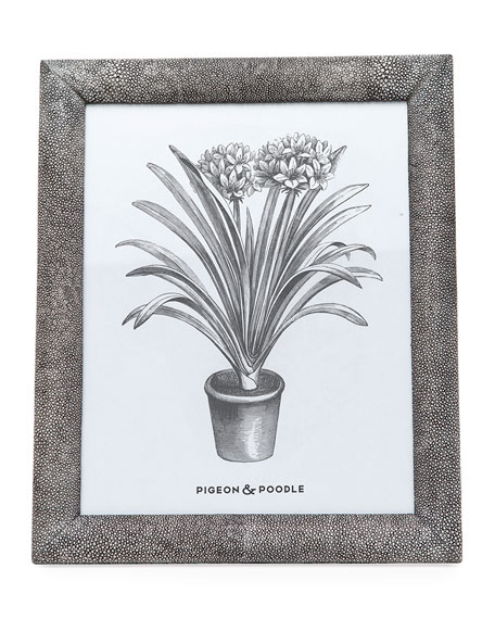 """Oxford Faux-Shagreen Picture Frame, 8"""" x 10"""""""
