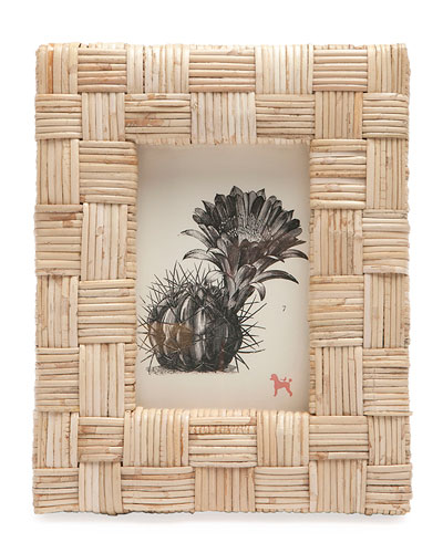 Grasse Natural Cane  Picture Frame   4 x 6