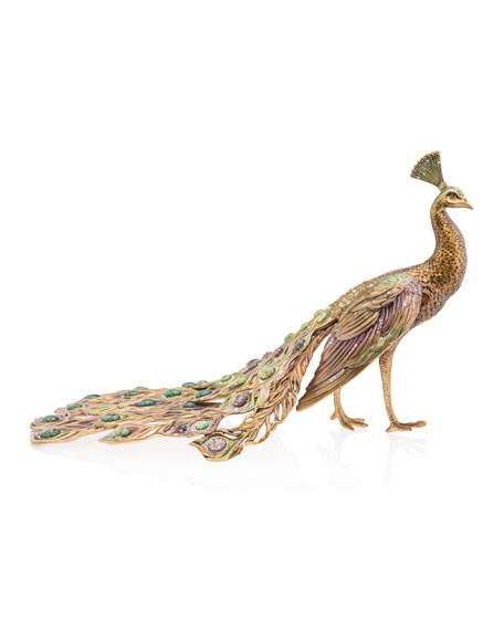 Grand Peacock Figurine