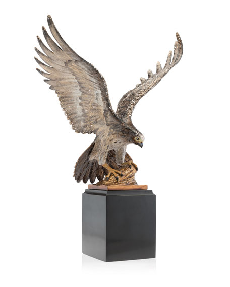 Jay Strongwater Falcon Figurine