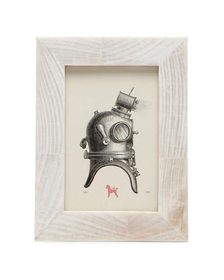 "Bari Natural Clamstone Picture Frame, 4"" x 6"""