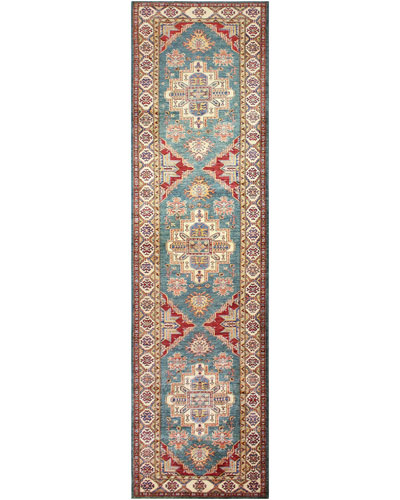 Dane One-of-a-Kind Hand-Knotted Runner, 3.3' x 12.8'