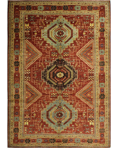 Gennadi One-of-a-Kind Hand-Knotted Rug, 6.6' x 9.9'