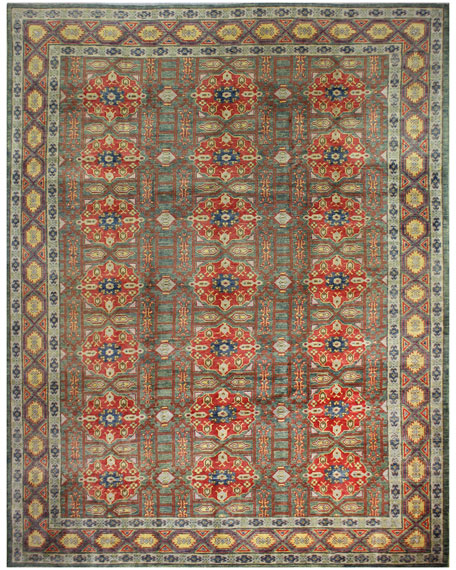 Roger One-of-a-Kind Hand-Knotted Rug, 8.3' x 11.3'