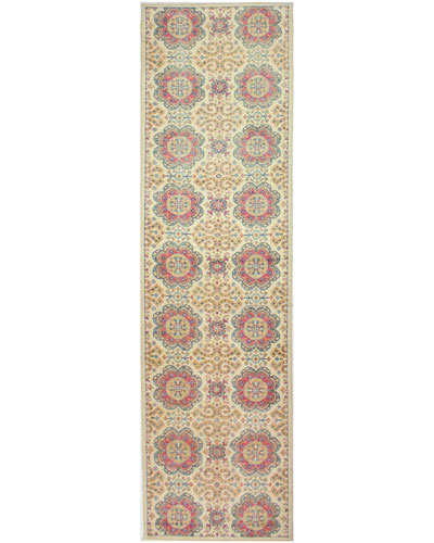 Daisy One-of-a-Kind Hand-Knotted Runner, 3.1' x 11.5'