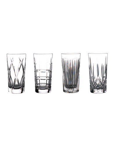 Gin Journey Highball Glasses, Set of 4