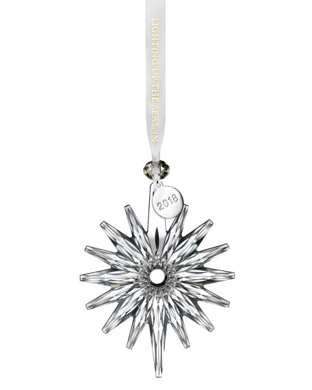 Waterford Crystal Christmas Ornaments.2018 Annual Snow Crystal Christmas Ornament