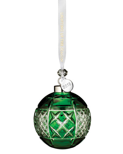 2018 Ball Christmas Ornament, Emerald