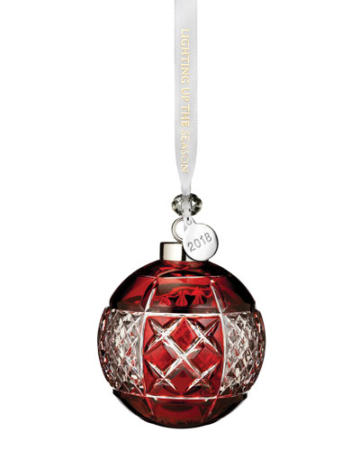 2018 Ball Christmas Ornament, Ruby