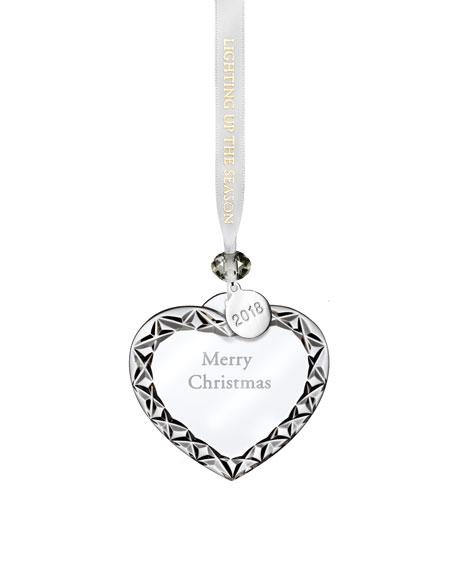 2018 Merry Christmas Heart Christmas Ornament