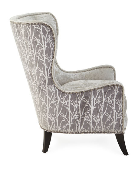 Shimmer Branch Wing Chair