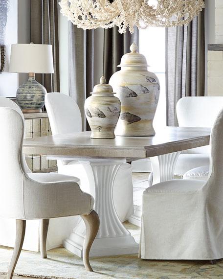 Eleri Double Pedestal Dining Table