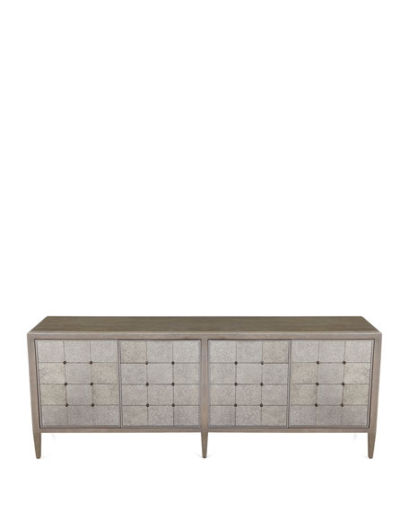Eleri Antiqued Mirrored Dining Console