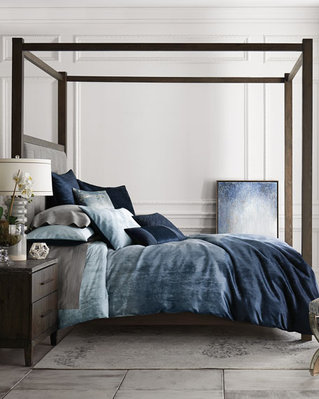 Liesel Tufted King Canopy Bed