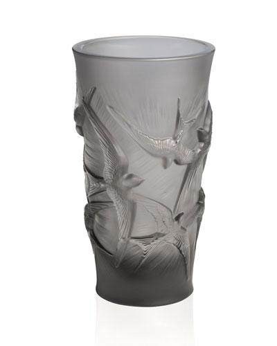 Hirondelles Vase, Grey