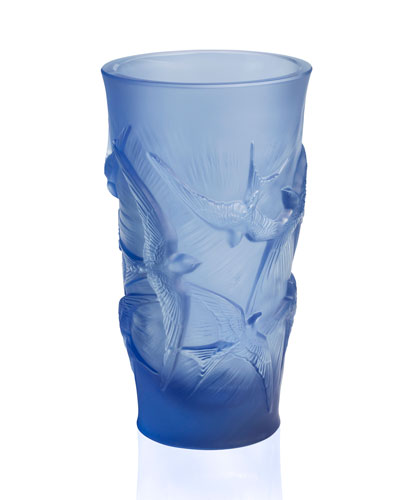 Hirondelles Vase, Blue