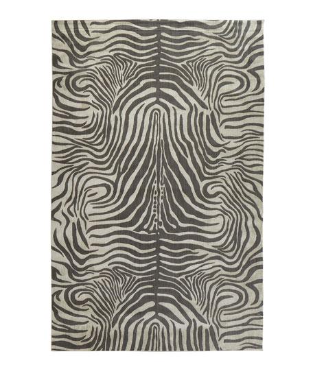 Dariya Power-Loomed Zebra Rug, 3.9' x 5.9'