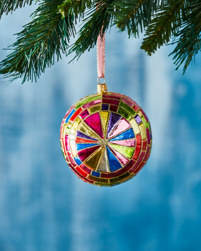 Faceted Ball Christmas Ornament