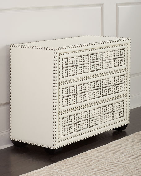 Isabella Leather 3-Drawer Chest