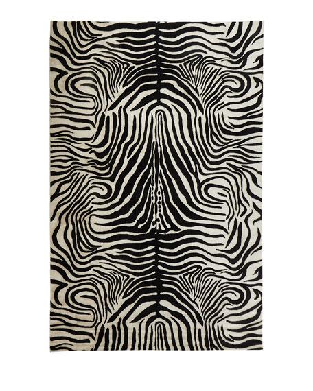 Dariya Power-Loomed Zebra Rug, 5.3' x 7.5'