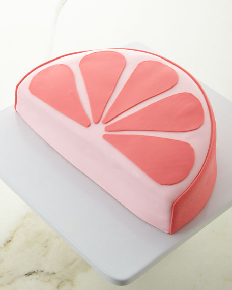 Gin and Juice Grapefruit Slice Cake