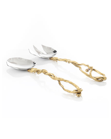Wisteria Gold Serving Set