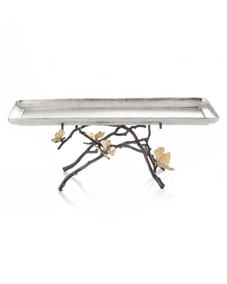 Michael Aram Butterfly Gingko Footed Centerpiece Tray