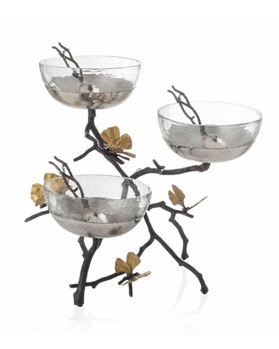 Butterfly Gingko Triple Bowl Set