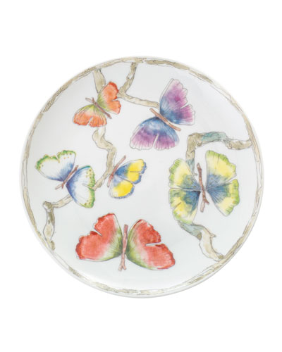 Butterfly Gingko Tidbit Plates  Set of 4