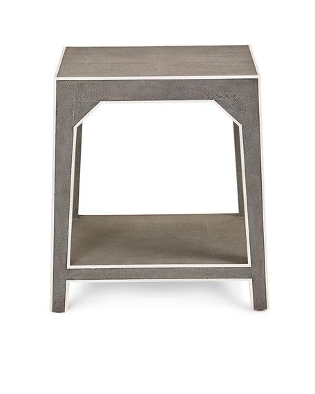 Winter Faux-Shagreen Side Table